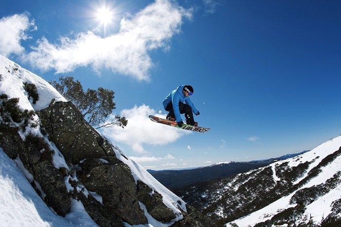 Mt Buller Snowboarder