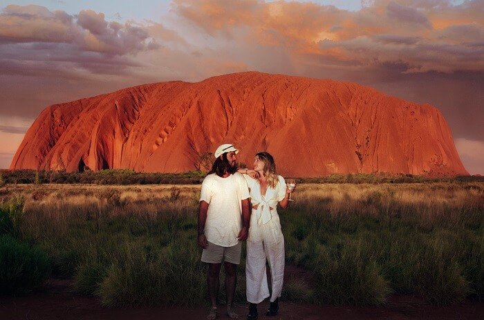 Uluru Sunset Couple
