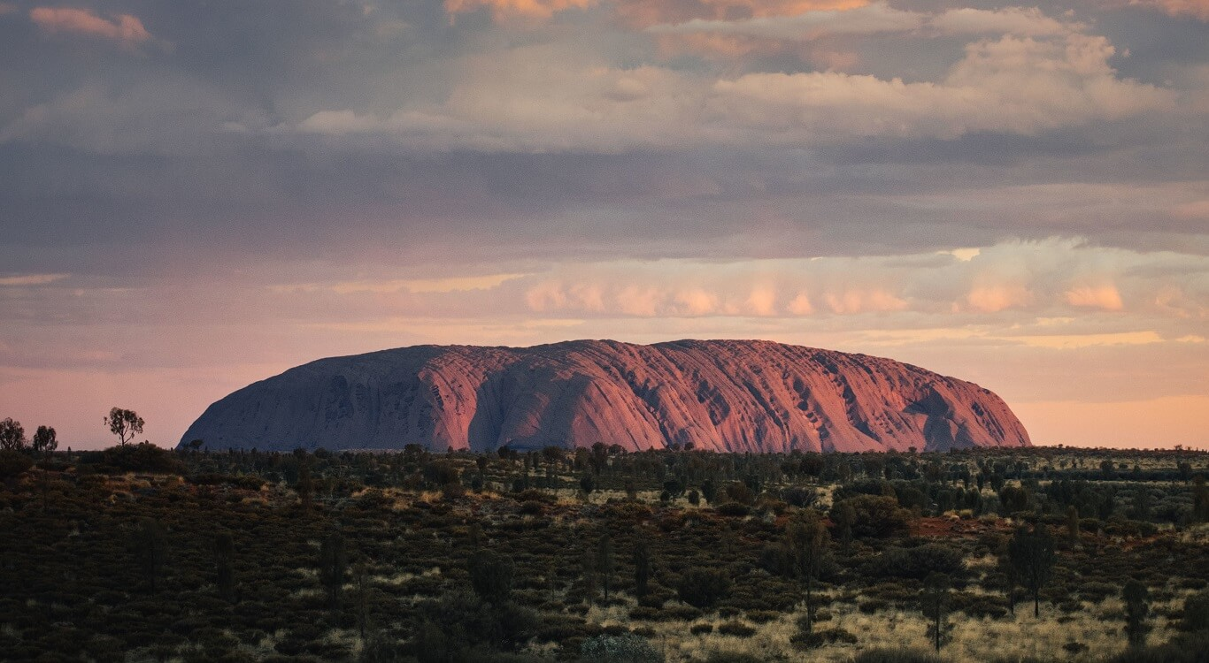 Uluru Sunset and Sacred Sites from the Rock