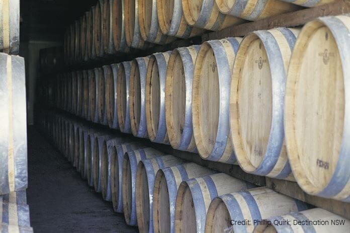 Wine Barrels Hunter Valley