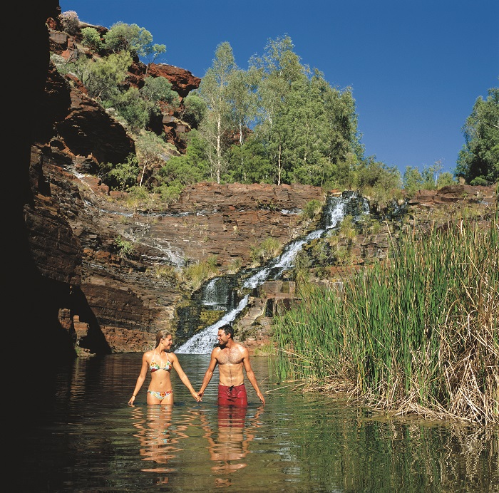 Fortescue Falls, in Karijini National Park
