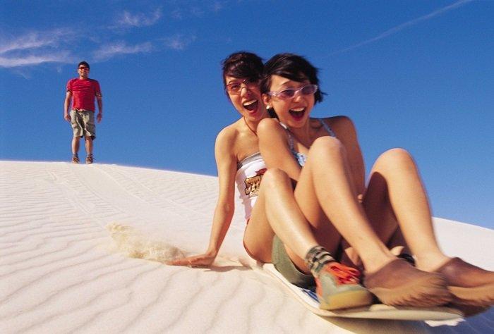 Sandboarding near Lancelin