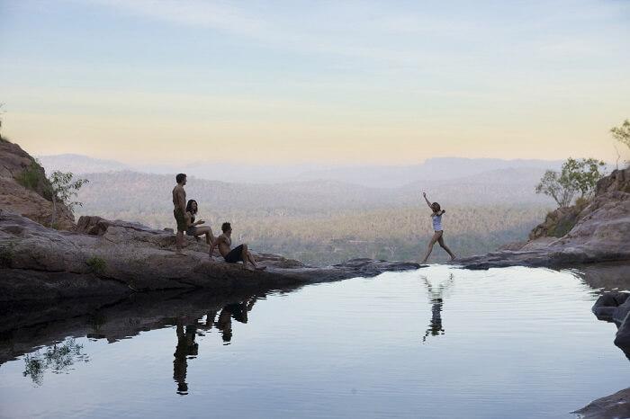 Top of the Waterhole of Gunlom Waterfall