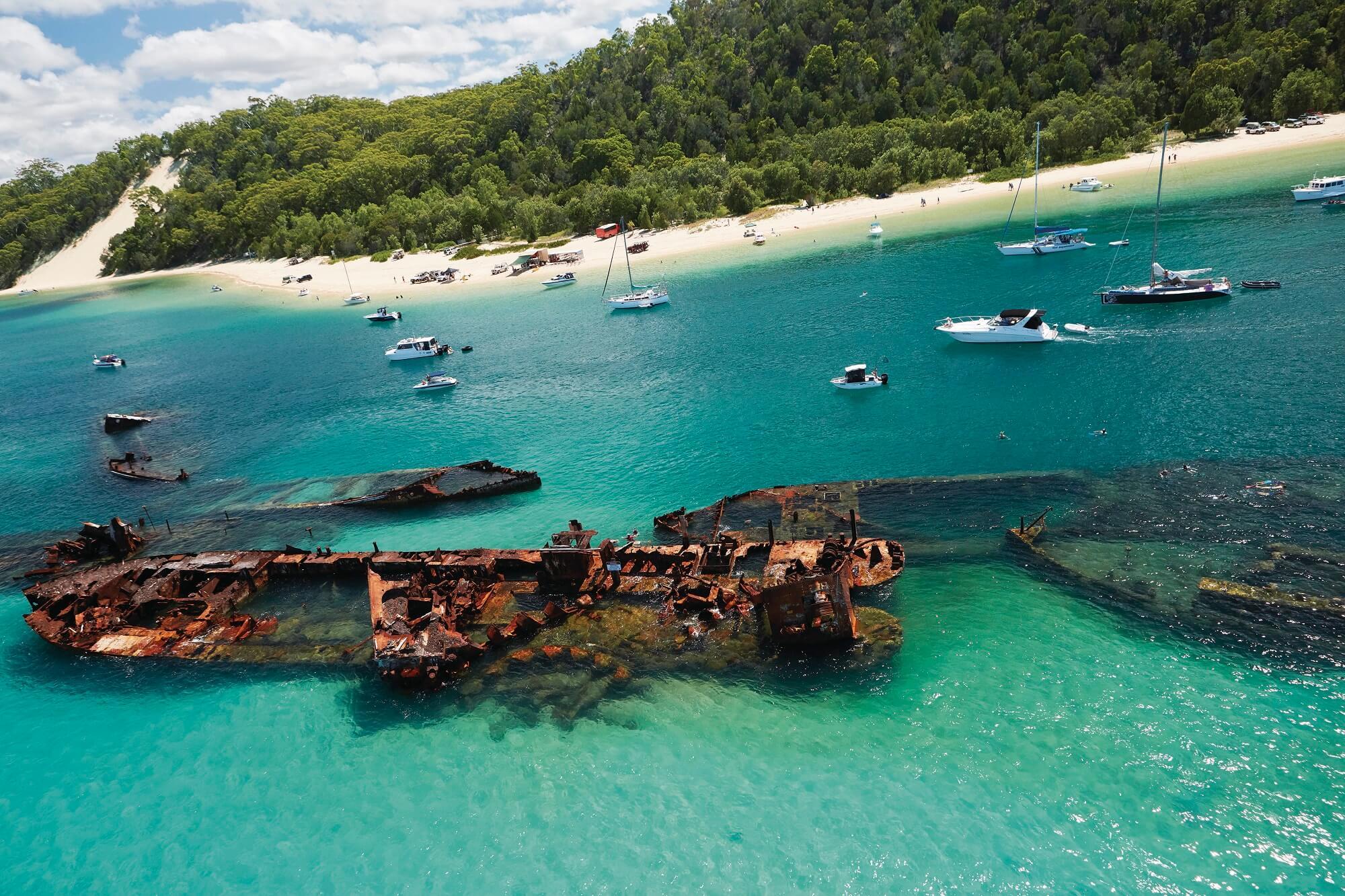 Snorkeling on Moreton Island
