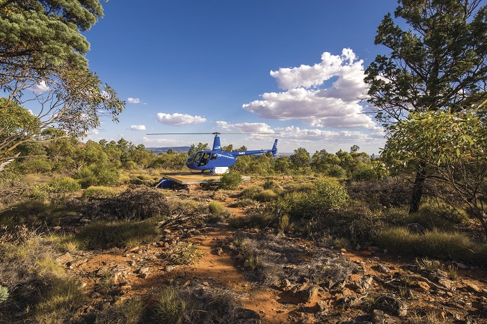 Helicopter ride at Wilpena Pound