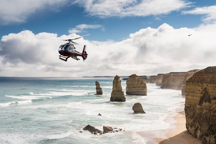 Helicopter Flight over the 12 Apostles