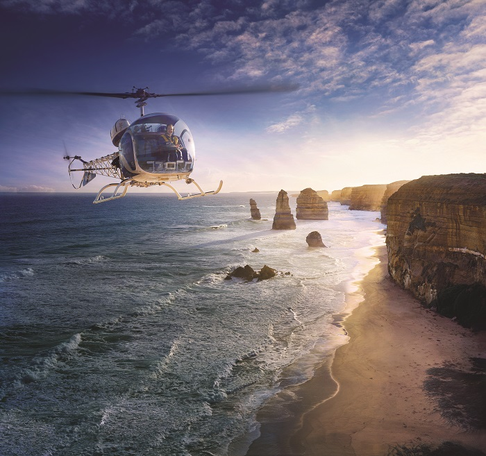 Helicopter ride over the 12 Apostles