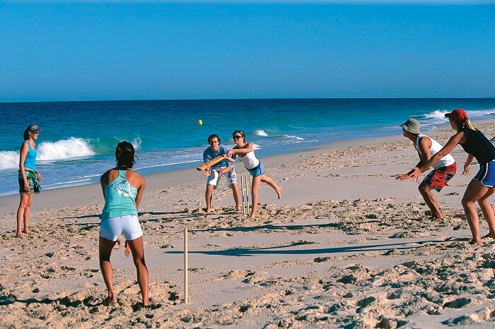 Beach cricket in Broome