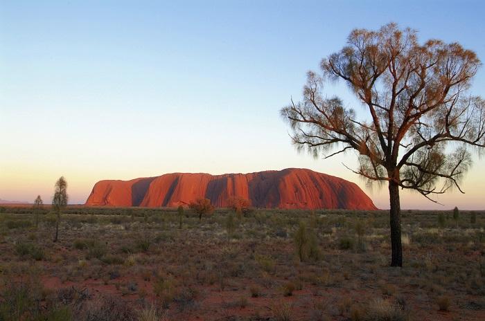 The iconic Uluru
