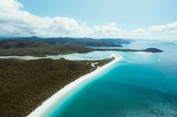 Ariel view of Whitehaven Beach