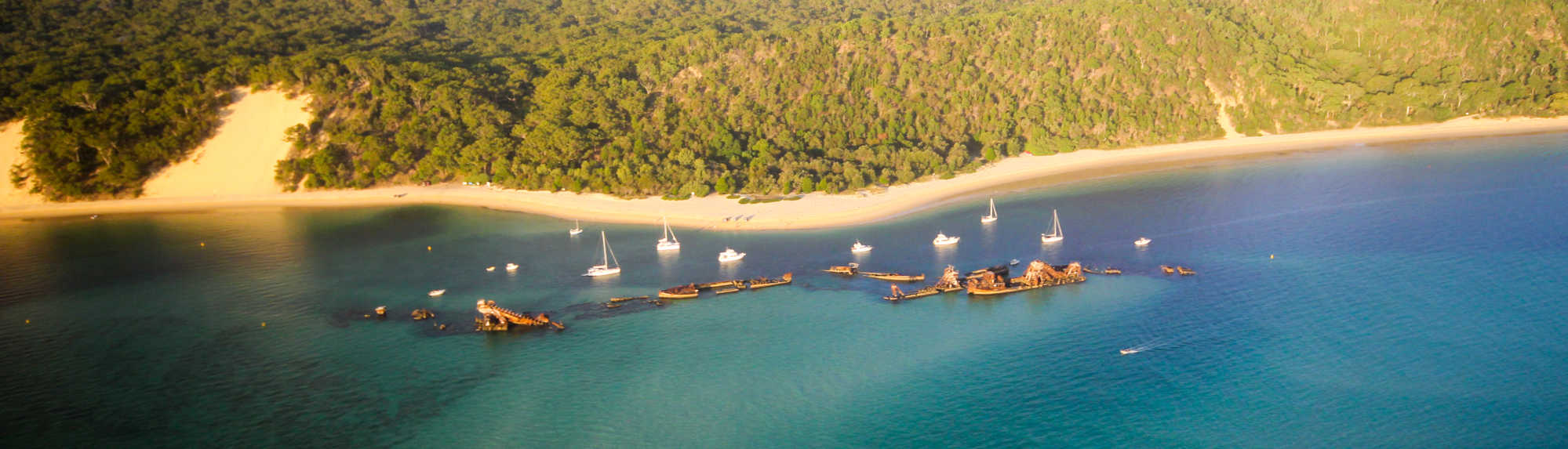 How did the Tangalooma Wrecks on Moreton Island come to be?