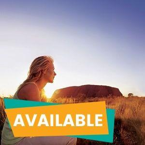 Uluru Sunrise and Kata Tjuta from Ayers Rock