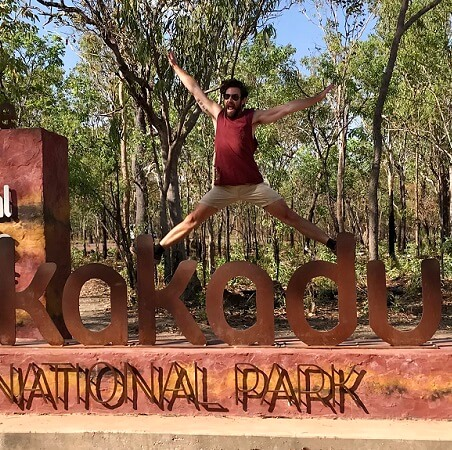 What is the average temperature in Kakadu?