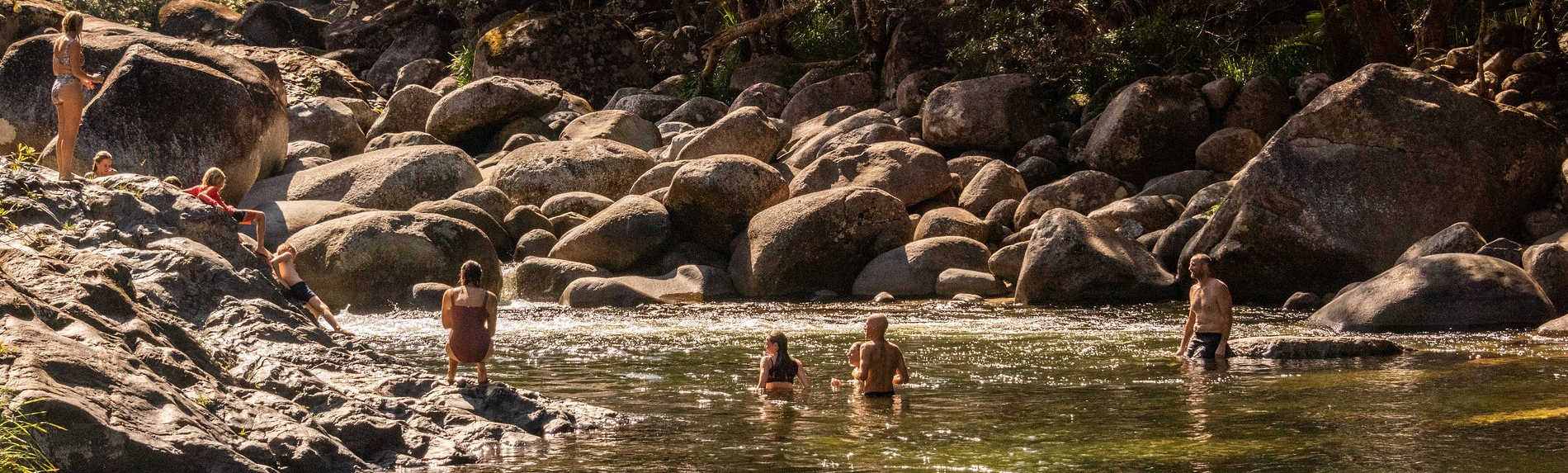 Are there crocodiles in Mossman Gorge?