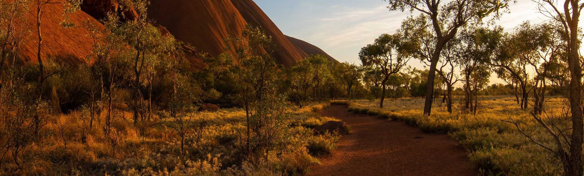 How far is the walk around Uluru?