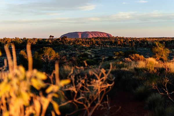 Sunset Near Uluru